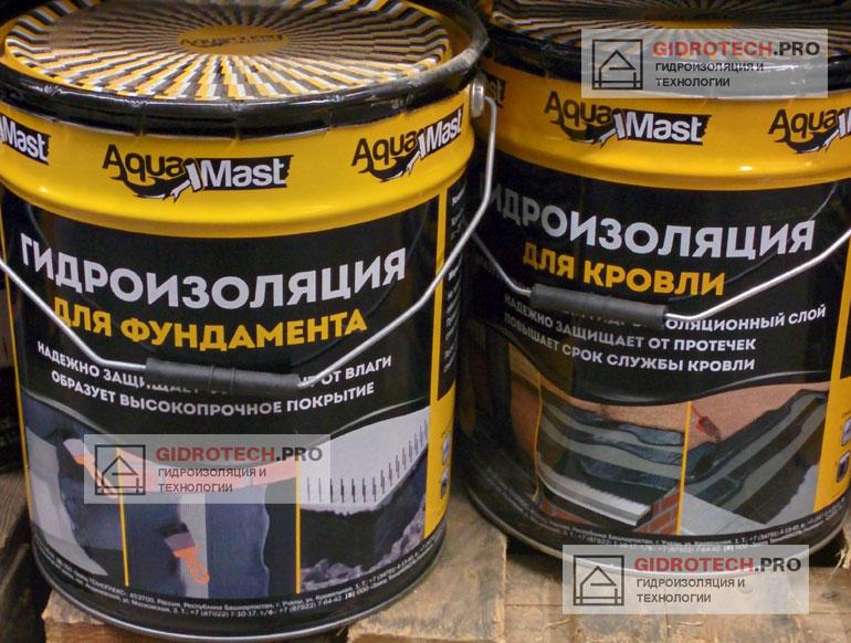 Битумная мастика AquaMast компании Технониколь
