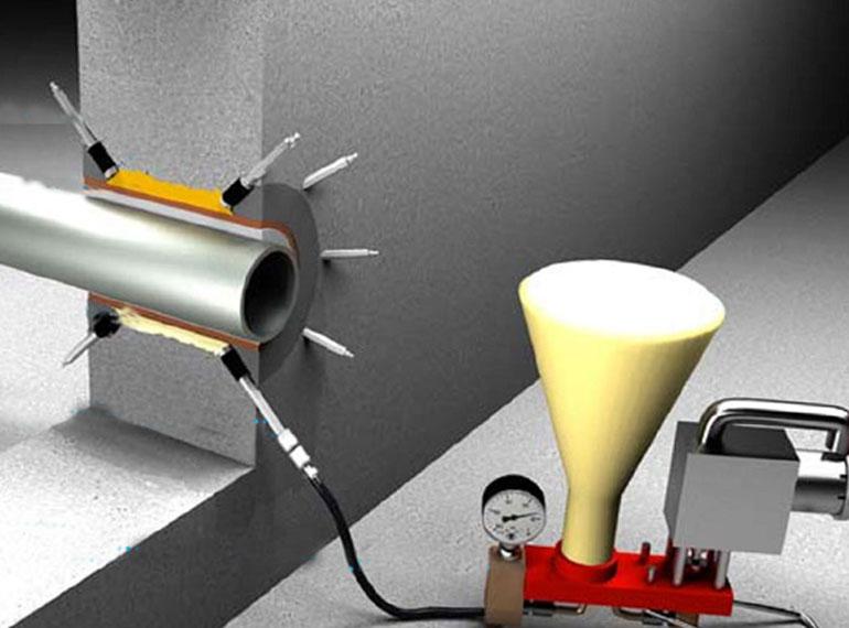 герметизация вводов инъектированием